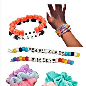 Beaded Bracelets & Scrunchies ( Pack of 20 )